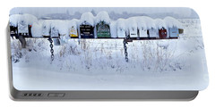 Winter Mailbox Panorama Portable Battery Charger