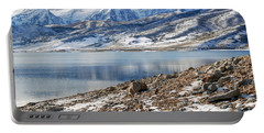 Winter Mt. Timpanogos And Deer Creek Reservoir Portable Battery Charger