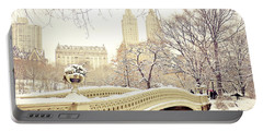 New York Snow Photographs Portable Battery Chargers