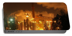 Winter Night At Sunila Pulp Mill Portable Battery Charger