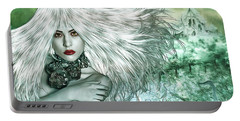 Portable Battery Charger featuring the digital art Winter by Nola Lee Kelsey