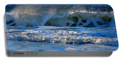 Winter Ocean At Nauset Light Beach Portable Battery Charger
