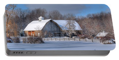 Portable Battery Charger featuring the photograph Winter On The Farm 14586 by Guy Whiteley
