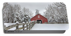 Winter On The Farm Portable Battery Charger by Benanne Stiens