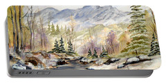 Winter On The River Portable Battery Charger by Dorothy Maier