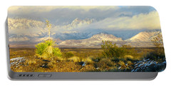 Winter In The Organ Mountains Portable Battery Charger by Jack Pumphrey