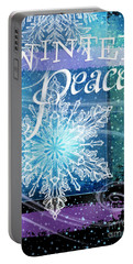 Winter Peace Greeting Portable Battery Charger