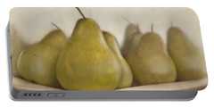 Winter Pears Portable Battery Charger by Cindy Garber Iverson