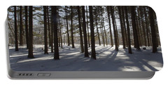 Winter Pines Portable Battery Charger by Daniel Sheldon