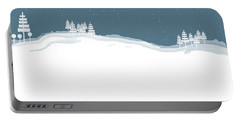 Winter Pines Portable Battery Charger