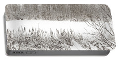 Winter Pond Portable Battery Charger