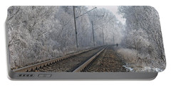 Winter Railroad Portable Battery Charger