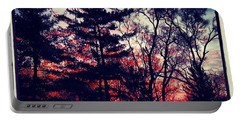 Winter Red Portable Battery Charger