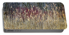 Winter Reeds And Forest Portable Battery Charger