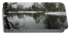 Portable Battery Charger featuring the photograph Winter Reflections 2 by Kathy Barney