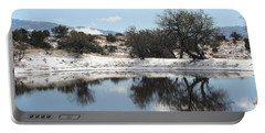 Winter Reflections Portable Battery Charger by David S Reynolds