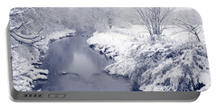 Portable Battery Charger featuring the photograph Winter River by Liz Leyden