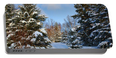 Winter Scenery Portable Battery Charger