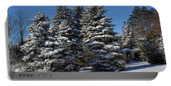 Portable Battery Charger featuring the photograph Winter Scenic Landscape by Gary Keesler