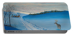 Winter Sentinel Portable Battery Charger by Norm Starks