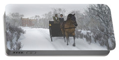 Winter Sleigh Ride Portable Battery Charger