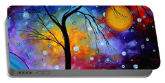 Winter Sparkle Original Madart Painting Portable Battery Charger