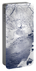 Portable Battery Charger featuring the photograph Winter Stream by Liz Leyden