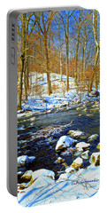 Winter Stream Southeastern Pennsylvania Poster Image Portable Battery Charger