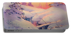 Winter Sun Portable Battery Charger by Teresa Ascone