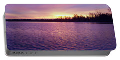 Winter Sunrise Portable Battery Charger by John Telfer
