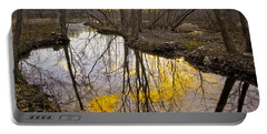 Portable Battery Charger featuring the photograph Winter Sunset At Williston Mill by Brian Wallace