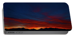 Winter Sunset Portable Battery Charger by Jeremy Rhoades