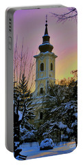Winter Sunset Portable Battery Charger by Nina Ficur Feenan