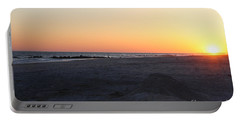 Winter Sunset On Long Beach Portable Battery Charger