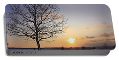 Winter Sunset Uk Portable Battery Charger