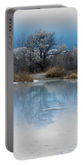 Winter Taking Hold Portable Battery Charger by Fran Riley