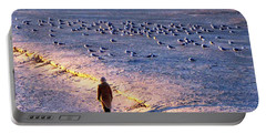 Portable Battery Charger featuring the photograph Winter Time At The Beach by Cynthia Guinn