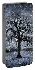 Winter Tree In Snowfall Portable Battery Charger