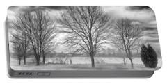 Portable Battery Charger featuring the photograph Winter Trees by Howard Salmon
