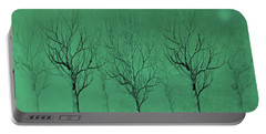 Winter Trees In The Mist Portable Battery Charger