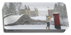 Winter Village With Postbox Portable Battery Charger by Jayne Wilson