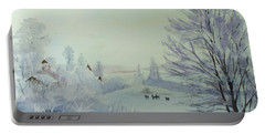 Winter Visitors Portable Battery Charger