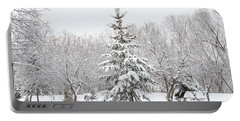 Winter White-out Portable Battery Charger