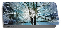 Portable Battery Charger featuring the photograph Winter Wonderland by Judy Palkimas