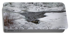 Portable Battery Charger featuring the photograph Vermillion Falls Winter Wonderland by Patti Deters