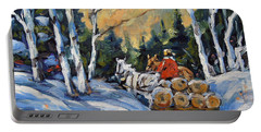 Winter Wood Horses By Prankearts Portable Battery Charger