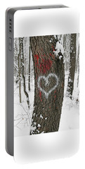 Winter Woods Romance Portable Battery Charger