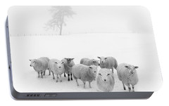 Winter Woollies Portable Battery Charger by Janet Burdon