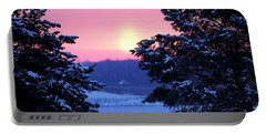 Portable Battery Charger featuring the photograph Winter's Sunrise by Elizabeth Winter