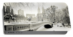 Winter's Touch - Bow Bridge - Central Park - New York City Portable Battery Charger